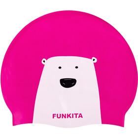 Funkita Silicone - Gorros de natación Mujer - rosa/blanco